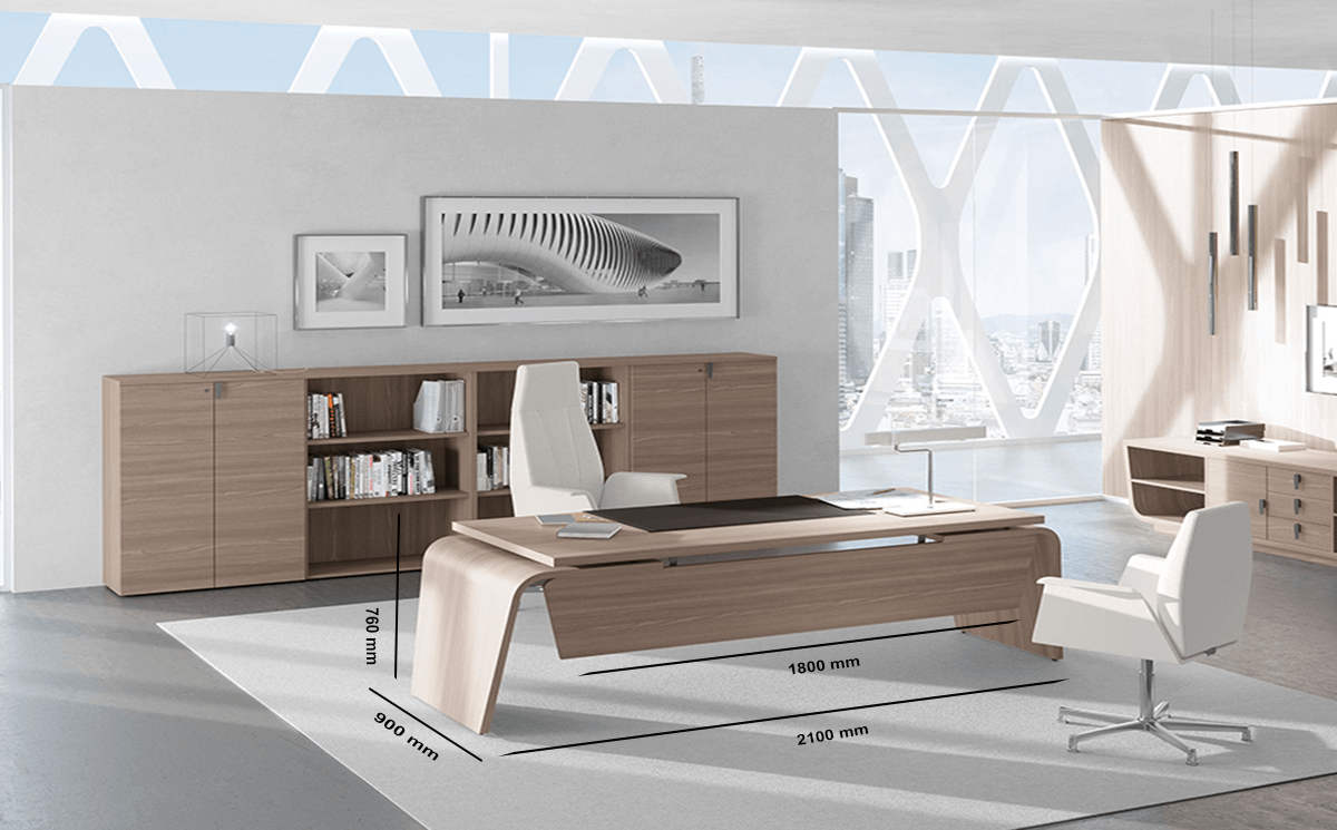 Oxford – Wooden Executive Desk with Modesty Panel