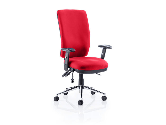 Selena 6 – Multicolour High Back Operator Office Chair with Arms