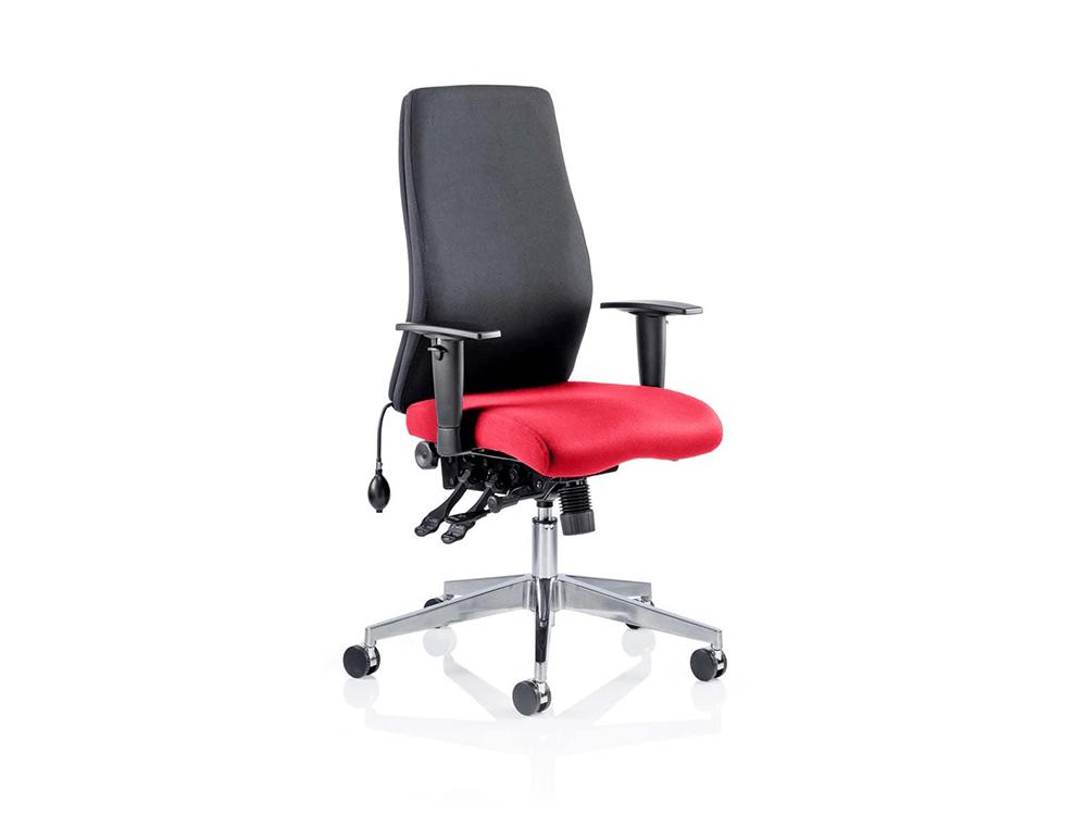 Nrya – Curved Executive Chair in Multicolour Fabric