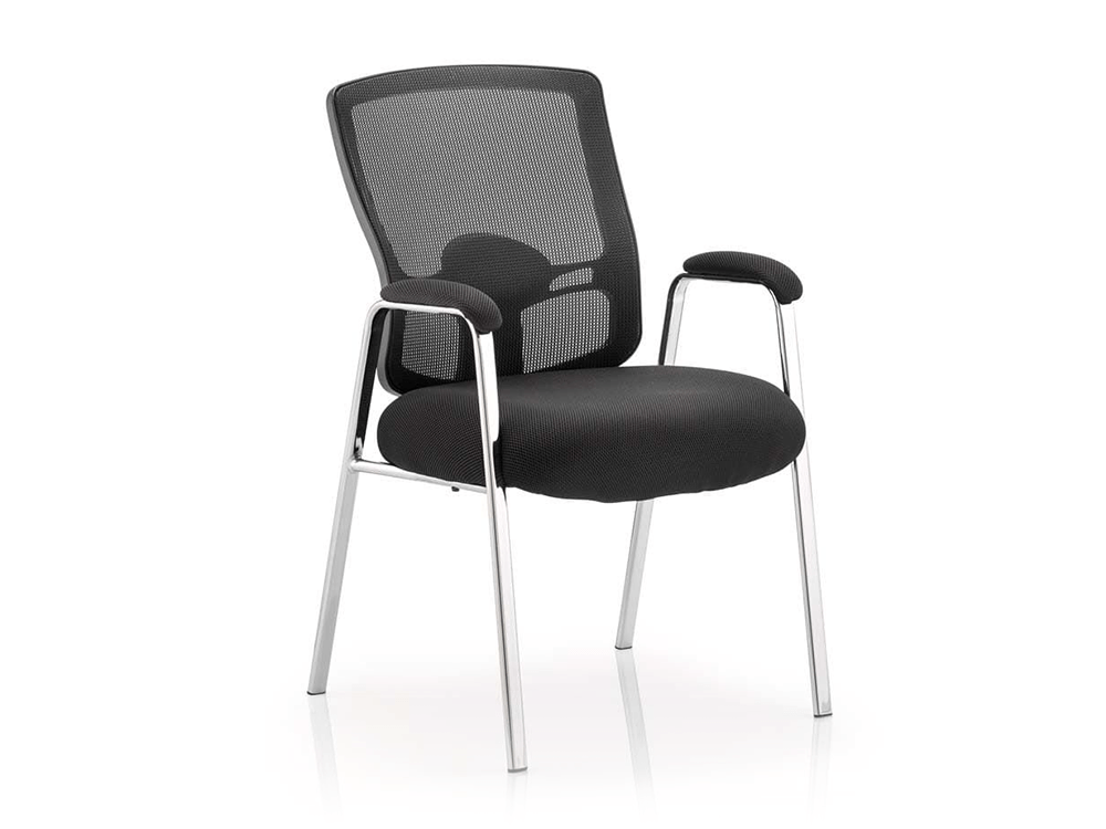 Oregon – Straight Chrome Leg Visitor Chair with Mesh Back