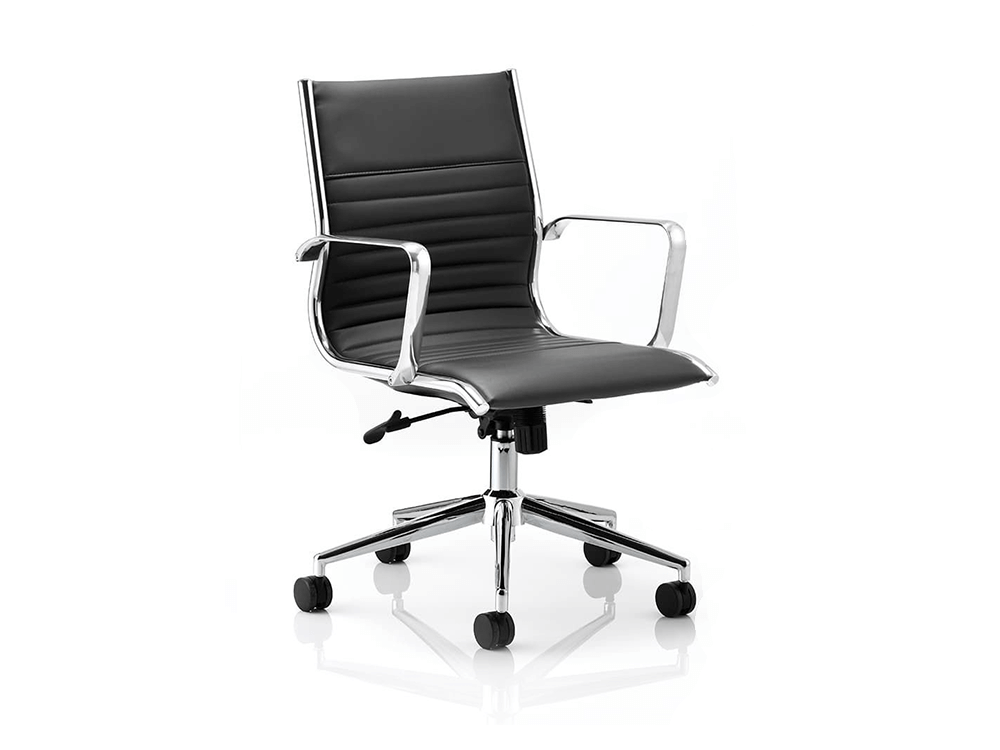 Charme – Medium Back Bonded Leather Executive Chair with Arms