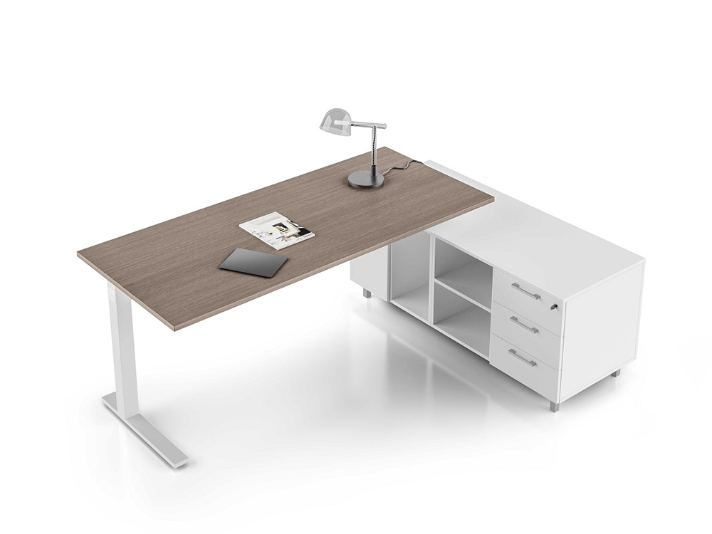 Forte – Square C Leg Executive Desk for supporting storage