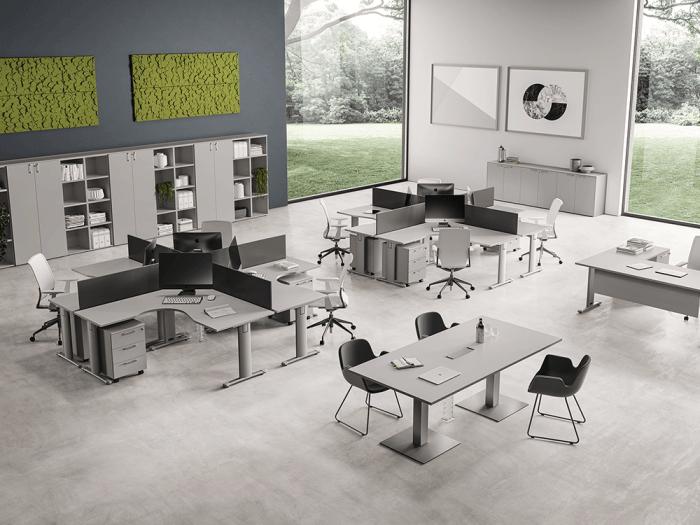 Regno – T Leg Corner Operators Office Desk