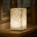 Auraglow Rechargeable Cordless Colour Changing Led Table Lamp Stone Auraglow Led Lighting