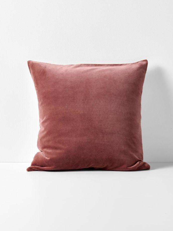 luxury velvet european pillowcase mahogany
