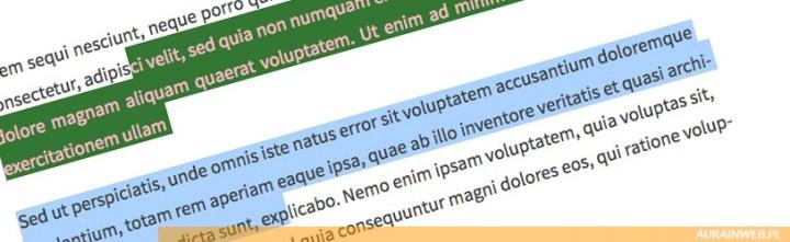 Zmiana koloru zaznaczenia tekstu – właściwość CSS ::selection