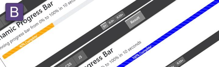 Dynamicznie ładujący się progress bar [Bootstrap]