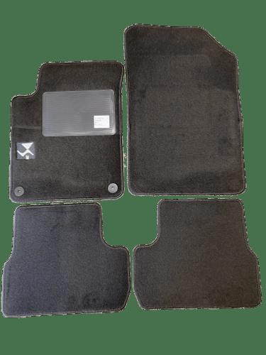 https www aureliacar com kit 4 tapis de sol auto pour citroen ds3 de 2010 2016 avec sigle ds3 moquette noire et clips neuf c2x31781336