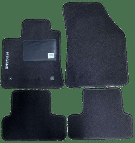 kit 4 tapis de sol auto pour renault megane depuis 2016 avec sigle megane avec clips neuf