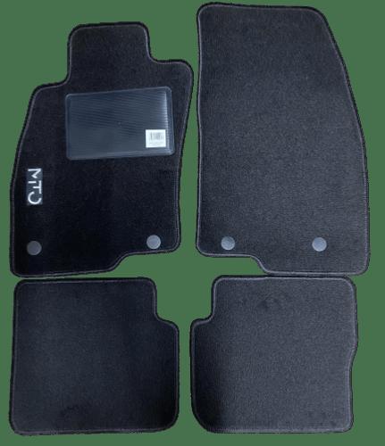 kit 4 tapis de sol auto pour alfa romeo mito de 2008 a 2016 sigle mito avec clips neuf