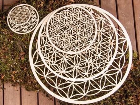 Blume des Lebens aus Holz 14,4 cm