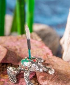 Räucherstäbchenhalter Frosch
