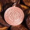 Shri Yantra aus Kupfer, ca. 30 mm