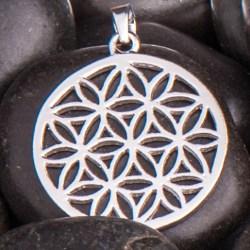 Blume des Lebens Anhänger Silber