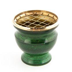 Netzgefäß Emaille grün