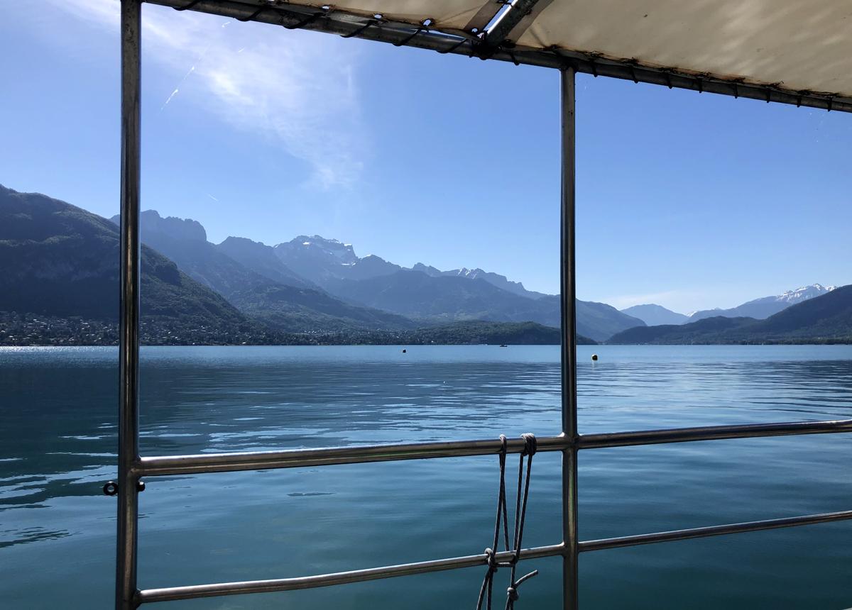 Sortie en bateau lac d'annecy
