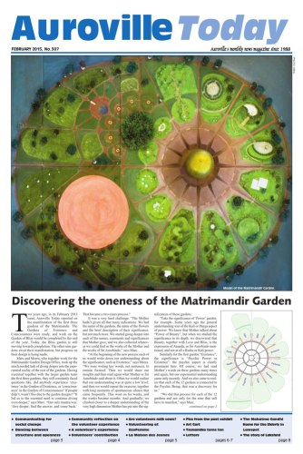 Auroville Today February Issue 307