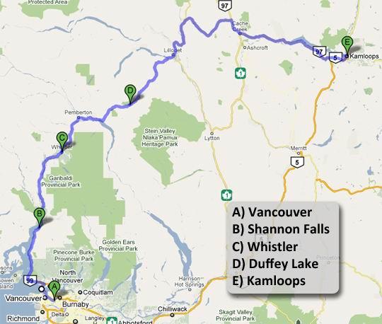 Da Vancouver a Kamloops
