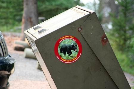 Cestino anti-orso