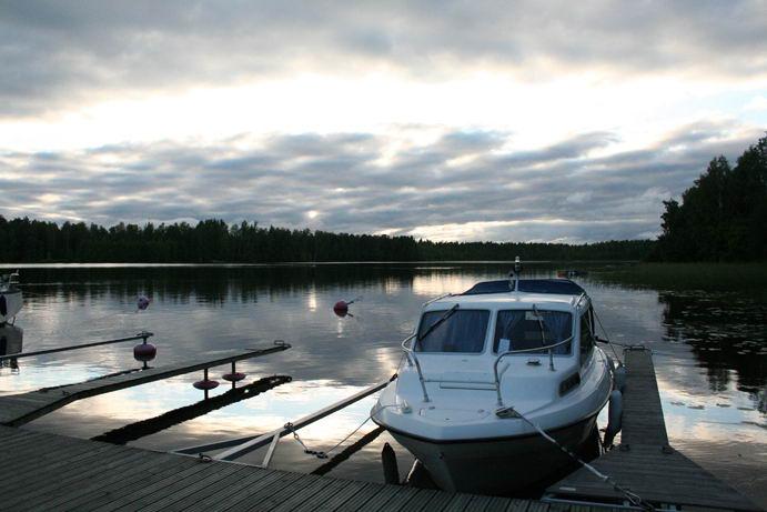 Il lago al Camping Kuntoranta di Varkaus