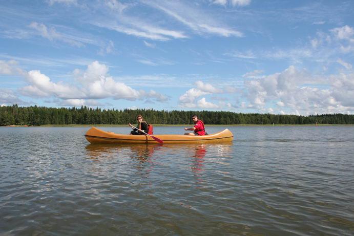 In canoa sul lago a Rantasalmi