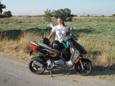 Silvia con il nostro Scooter Honda
