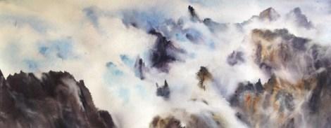 Elena Vela Sobre las nubes III   26x76