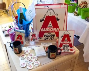Merchandise available at the Aurora Shop