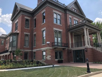 The renovated Illinois Governor's Mansion