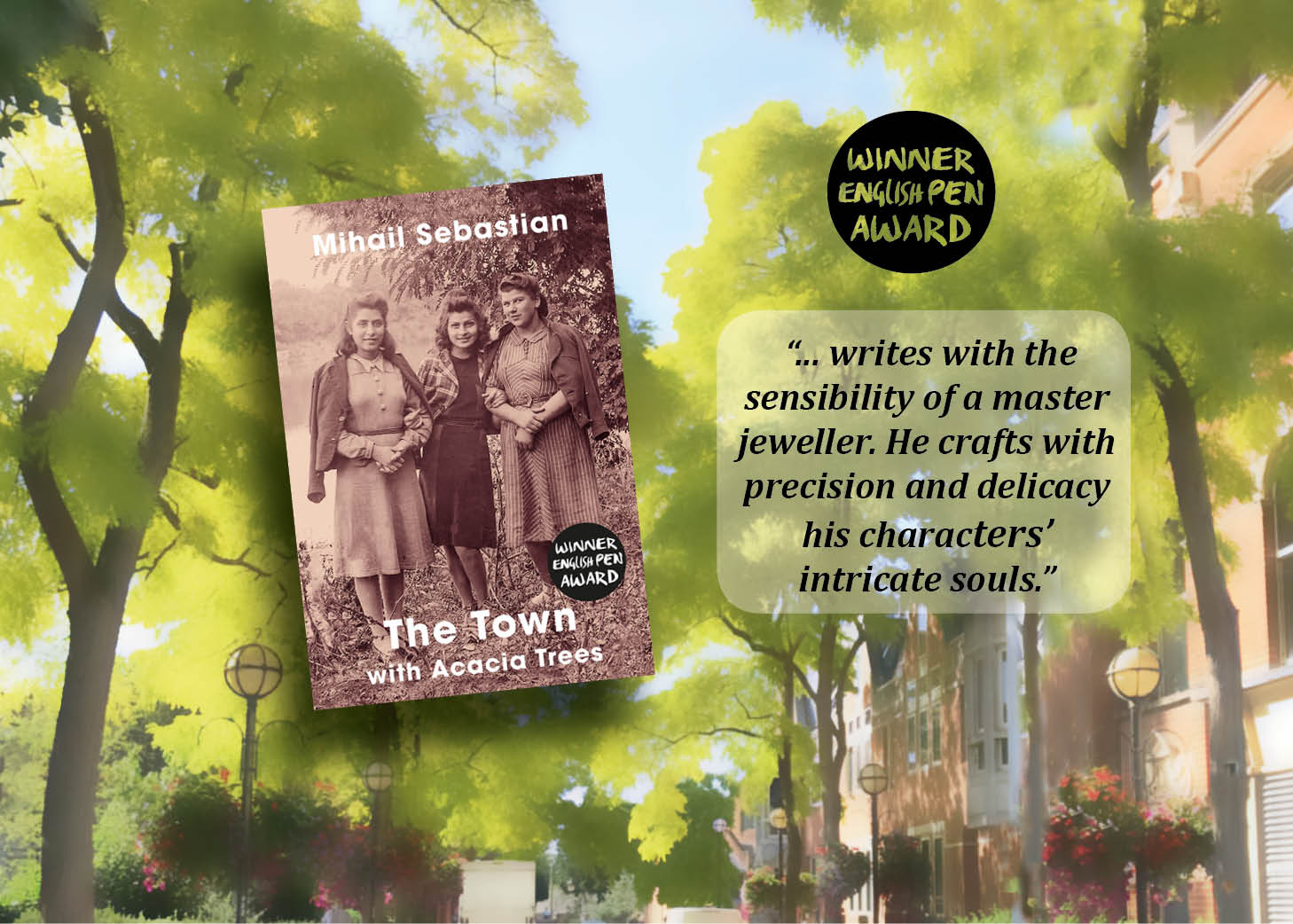 Booklaunch for The Town with Acacia Trees by Mihail Sebastian translated by Gabi Reigh