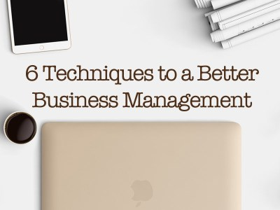 6 Techniques To A Better Business Management