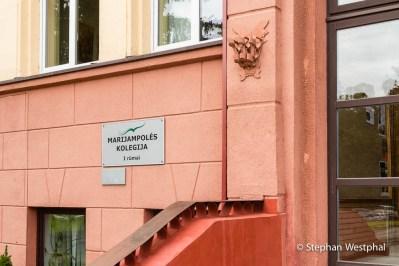 Eingang des College der Sozialen Arbeit in Marijampolé
