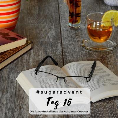 zuckerfrei ernähren - ablenkung durch buch und Tee