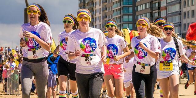 Frauen beim Laufen, Läuferinnen