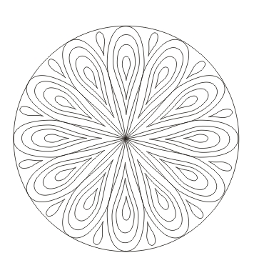 Mandala Mit Tropfen Mandala Ausdrucken