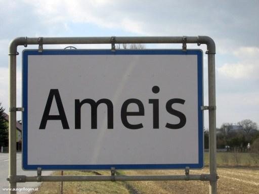 Ameis in Niederösterreich - Ortstafel Tier