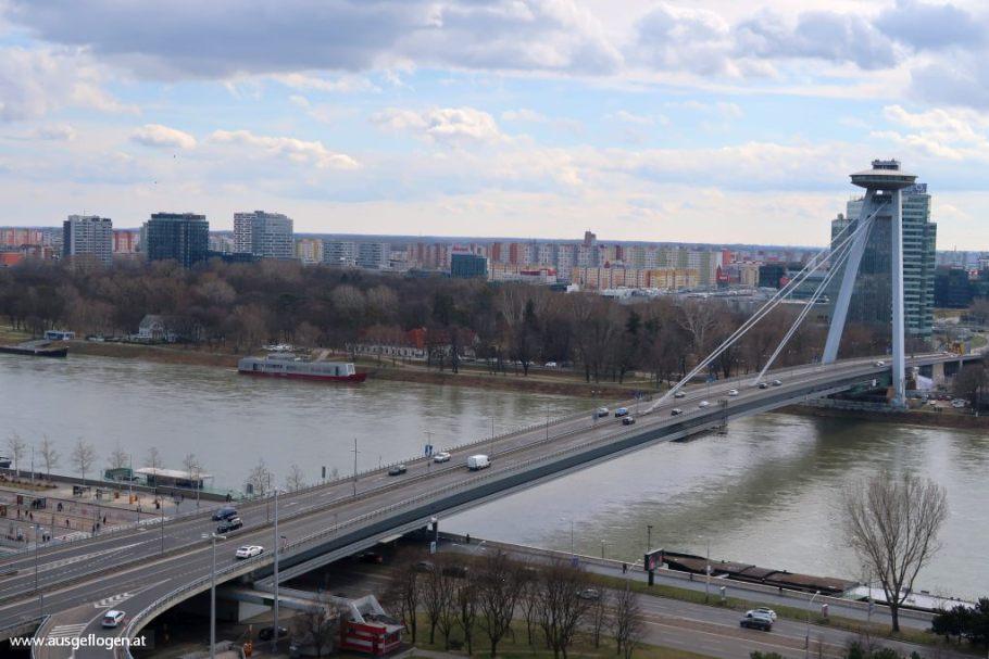 SNP Brücke Bratislava Sehenswürdigkeiten