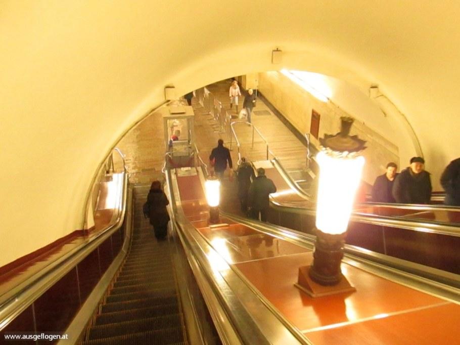 Moskau Metro Rolltreppe