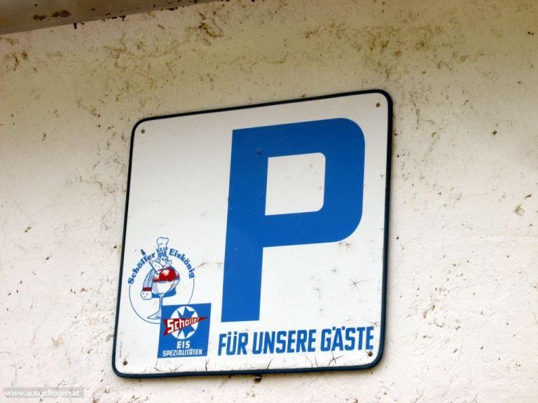 Schöller Eis Parkplatz