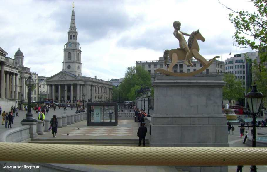 London mit Kindern Trafaögar Square