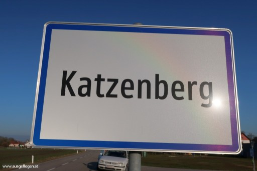 Ortsschild Österreich Katzenberg