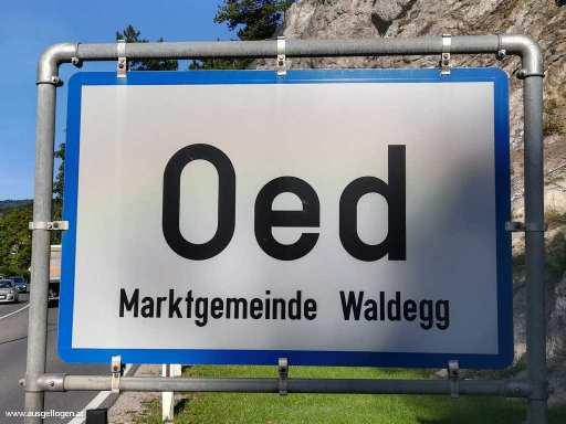 Ortstafel Österreich Oed
