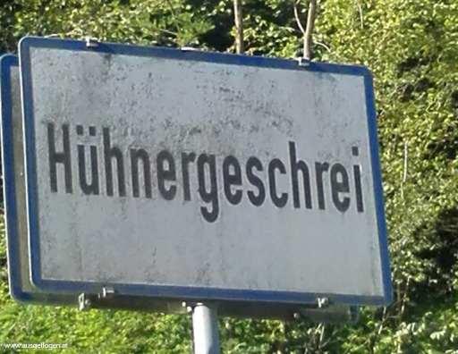 die lustigsten Ortstafeln Österreich Hühnergeschrei