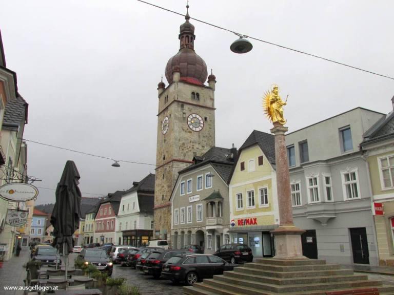 Waidhofen/Ybb Stadtturm niederösterreichische Eisenstraße