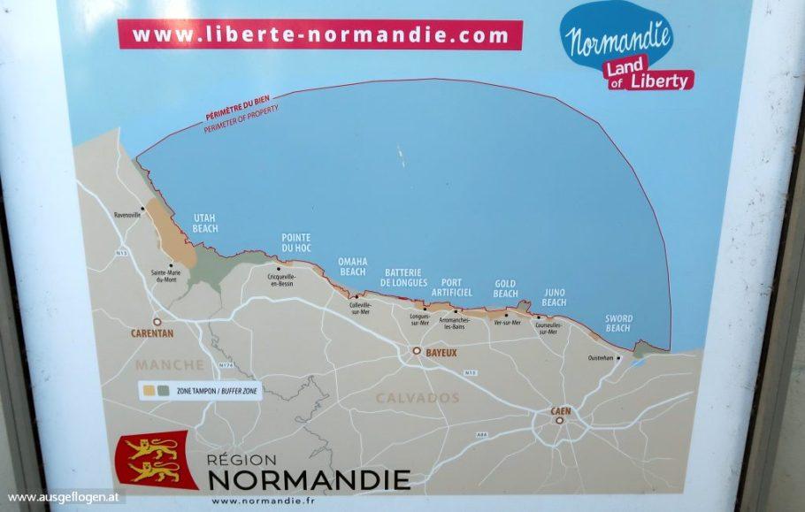 Landungsstrände Normandie Lage Überblick
