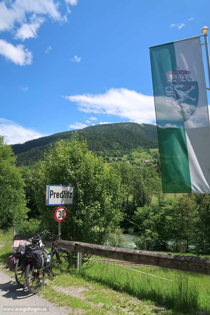 Murradweg Grenze Steiermark