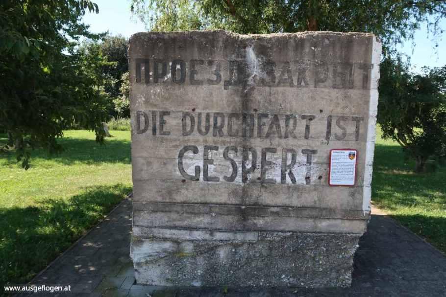 Panzersperre Radrastplatz Königswarte Kittsee Berg