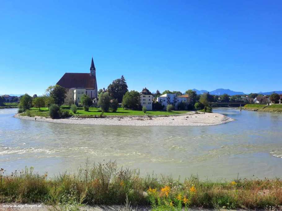 Oberndorf Laufen Europasteg Salzburg Umgebung Ausflugsziele