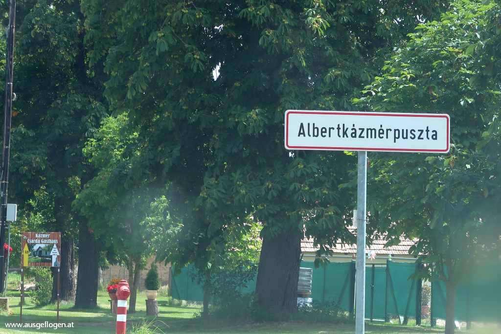 Grenze Halbturn Albértkázmérpuszta