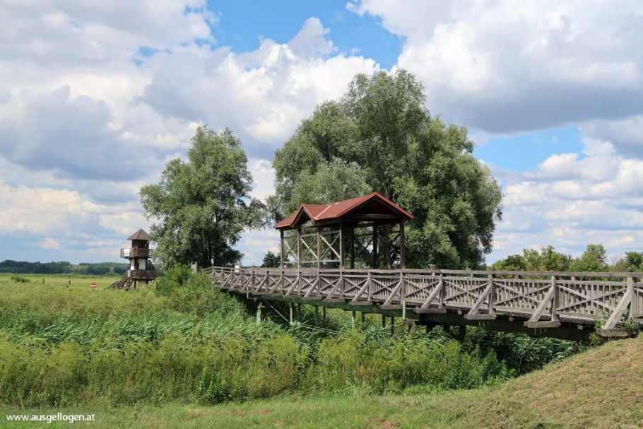 Ausflugsziel Burgenland Brücke von Andau Grenze zu Ungarn